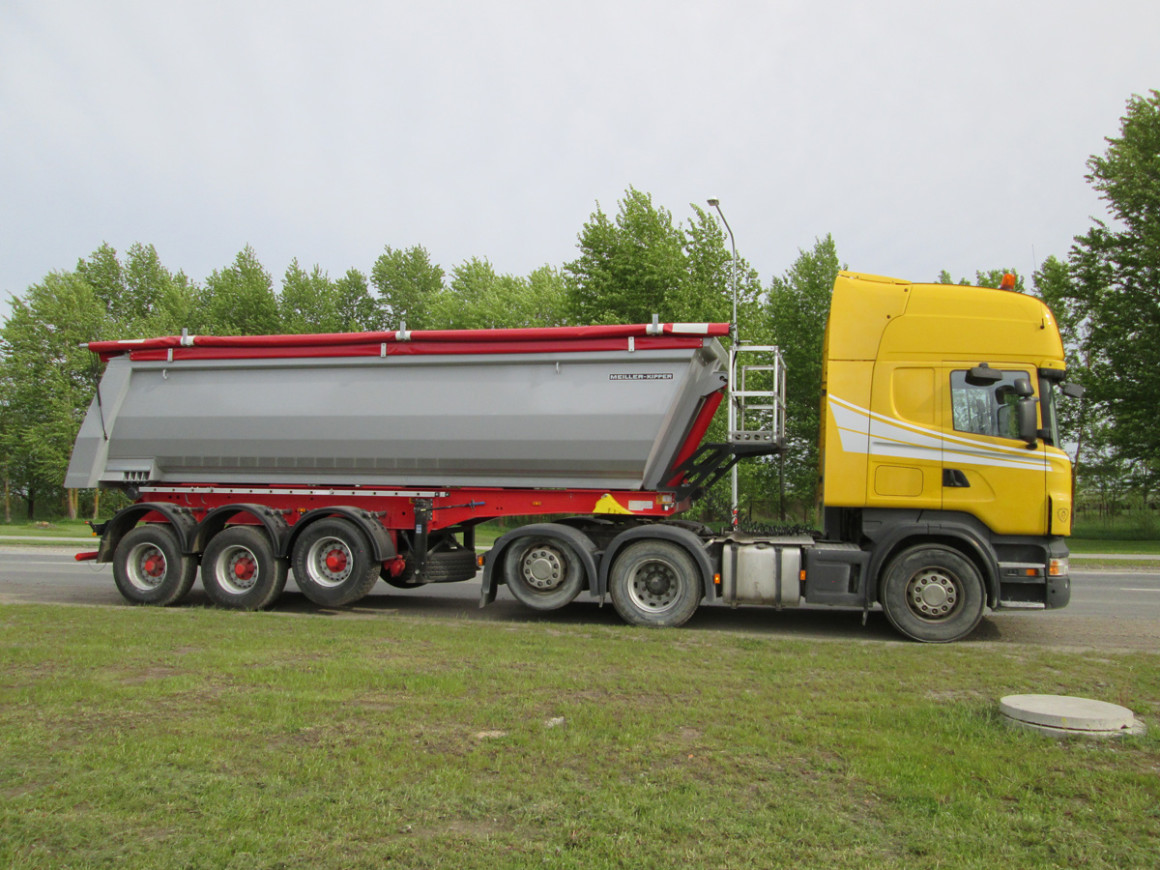 Scania R 500 ja haagis